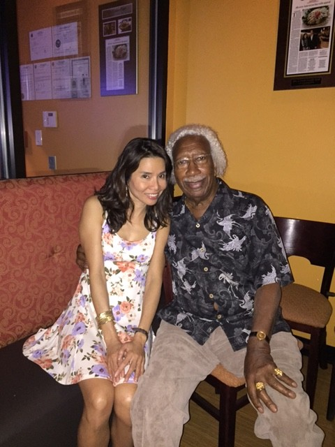Nancy Jitaruek with Mr. Marvin Gilmore